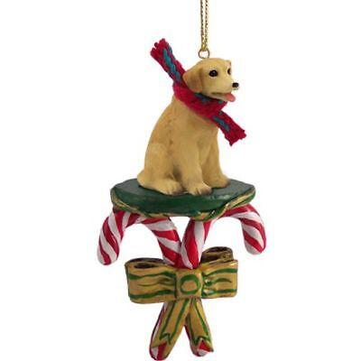 Labrador Retriever Yellow Dog Candy Cane Christmas Tree ORNAMENT