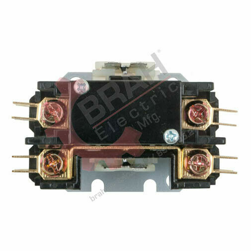 BDP2P20A24V, BRAH Electric aftermarket contactor BDP, 2P, 1PH, 20A 24V AC Coil