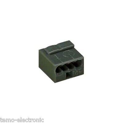 100 Stück WAGO Verbindungsklemme Mikro 4x0,8qmm 243-204