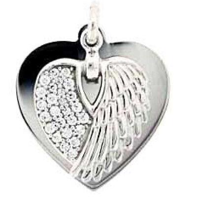 Engelsflügel Herz Anhänger mit Name Datum Gravur und - Baby Engel Mit Flügeln