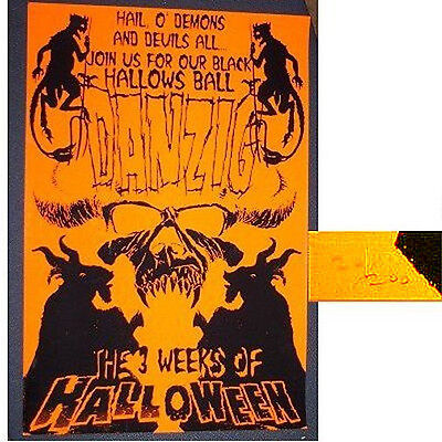 DANZIG 3 WEEKS OF HALLOWEEN ORANGE WALL POSTER RARE NUMBERED NOS OFFICIAL GLENN