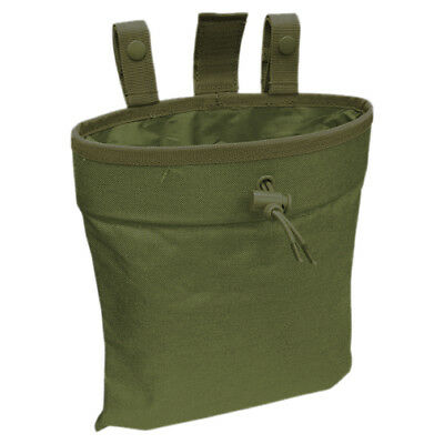 CONDOR TACTICAL 3 FOLD MAGAZINE POUCH AMMO RECOVERY POCKET MOLLE CASE OLIVE DRAB