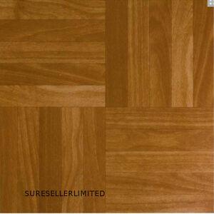 100 x wood squares self adhesive stick on vinyl flooring floor tiles kitchen ebay. Black Bedroom Furniture Sets. Home Design Ideas