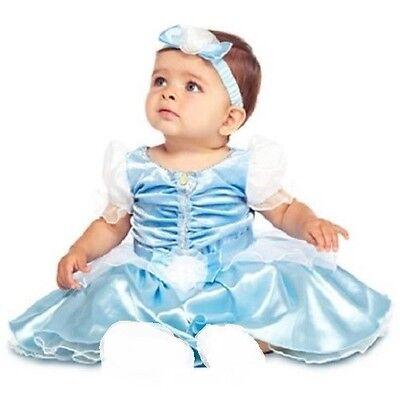 CiNdErELLa~Baby~Costume~DRESS+HEADBAND~NWT~Disney Store~2013 (Disney Baby Cinderella Costume)