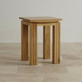 SOLID OAK GORGEOUS LAMP TABLE NEW X 2