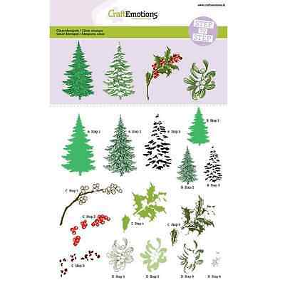 CraftEmotions clearstamps A5 - Weihnachtsbaum, Zweige Christmas Nature 012001