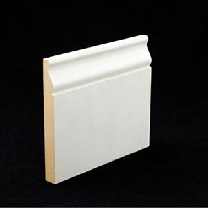 5 1 4 ultra primed smooth mdf wood colonial base molding for Colonial trim molding