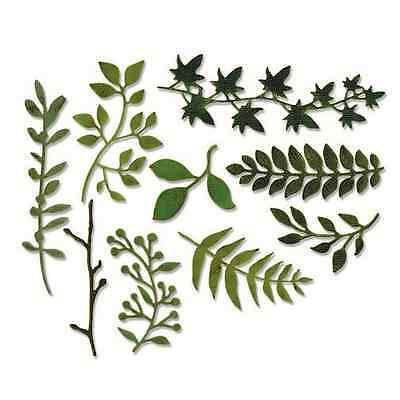 Sizzix Thinlits Die Set - Garden Greens 9PK 661206 Tim Holtz
