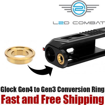 - L2D Combat Slide Guide Rod Reducing Ring Glock Gen4 to Gen3 Conversion-TiN Gold