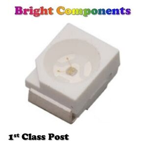 PLCC-2-SMD-SMT-LEDs-Red-Blue-Green-White-Orange-Yellow-1st-CLASS-POST