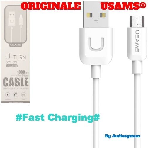 CAVO CAVETTO USB ORIGINALE USAMS® PER HUAWEI P9 LITE P8 MATE 7 8 RICARICA VELOCE