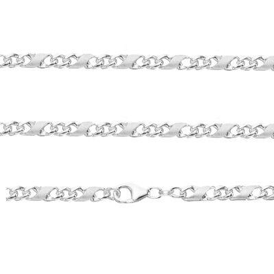 55 cm Männer Dollar Kette massiv 3,7 mm Breit Echt Silber 925 Sterlingsilber Neu (55 Dollar)