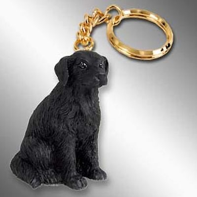 Flat Coated Retriever Dog Tiny One Resin Keychain Key Chain Ring