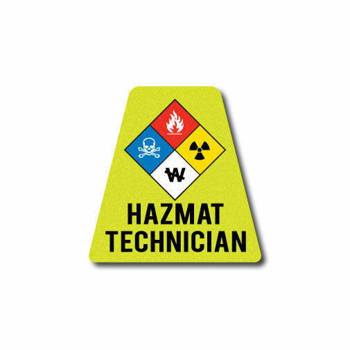 3M Reflective Fire Helmet Single Tetrahedrons - HAZ MAT Technician Tet