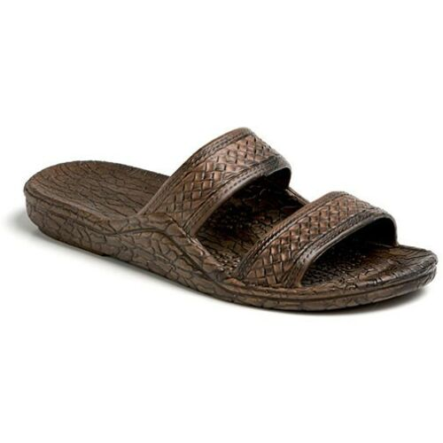 Pali Hawaii Unisex Hawaiian Jesus Jandal Dark Brown Slip On Waterproof Sandals