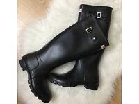 Hunter Wellington boots - few uses (Size UK 5)