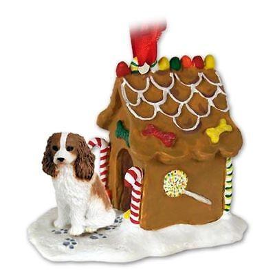 - Cavalier King Charles Spaniel Blenheim Dog Ginger Bread House Christmas ORNAMENT