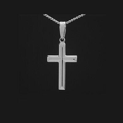 Kinder Erst Kommunion Konfirmation Firmung Kreuz Anhänger mit Kette Silber 925