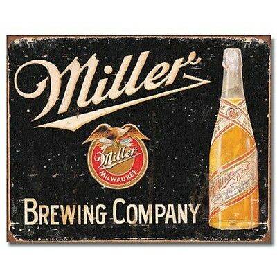 Miller Brewing High Life Bottle Beer Vintage Retro Style Metal Tin Sign New