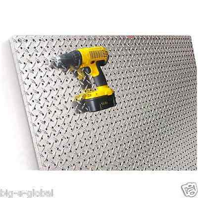 Commercial Grade Metal Pegboard - 4 x 4 Panel - Diamond Plate Fit Standard Hooks ()