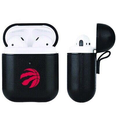 Toronto Raptors NBA Fan Brander Black Leather AirPod Case