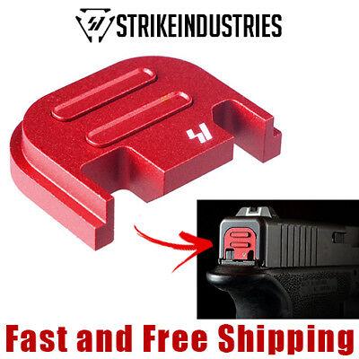 Strike Industries Quick Detachable Slide End Plate for Glock -Push - Ruby Slide