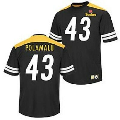 NFL Football Trikot Jersey Shirt PITTSBURGH STEELERS Troy Polamalu 42 Hashmark