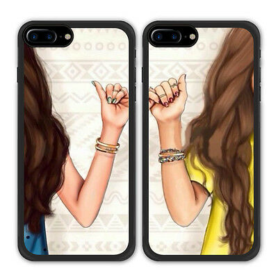Best Friend BFF Finger Hook Phone Case For Apple iPhone X 8 Samsung Galaxy S8