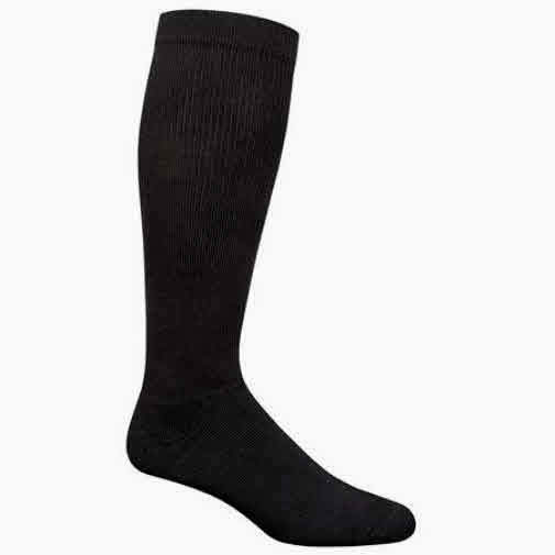 Compression Socks Black Therapeutic Graduated 20-30mm Hg Men's XL Dr. Scholl's