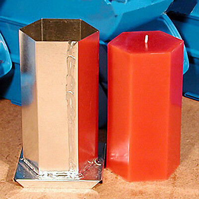 HEXAGON Candle Mold (3 inches x 6-1/2 inches Tall)