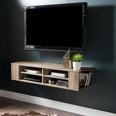 Wall Mount Media Center Shelf Floating Entertainment Console TV Stand Cabinet ()