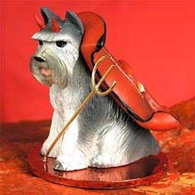 SCHNAUZER Grey Cropped Devil Dog Tiny One Figurine Statue New
