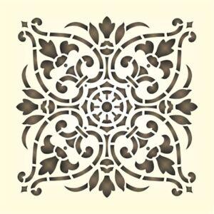 wandschablone ornament schablonen ebay. Black Bedroom Furniture Sets. Home Design Ideas