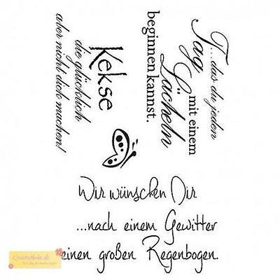 Efco WIR WÜNSCHEN DIR Stempel SET, clear stamp, A7,Spruchstempel