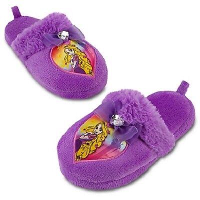 RAPUNZEL~Jewel Heart~Plush SLIPPERS~Girls 11/12~L16.5cm~TANGLED~NWT~Disney Store - Rapunzel Slippers