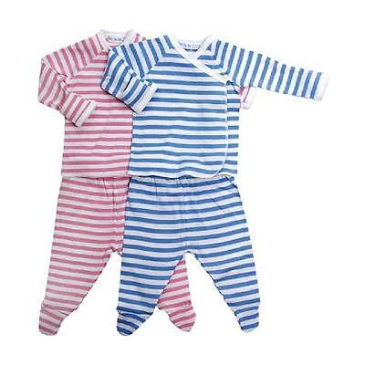 Under the Nile Organic Cotton Preemie Side-Snap Layette Set - Rene Rose or Blue Side Snap Layette Set