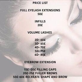 eyelash & eyebrow extensions mobile and home base