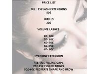 eyelash & eyebrow extensions mobile and home base