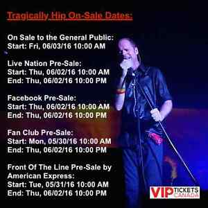 ★★ The Tragically Hip Tickets - BEST SEATS ★★