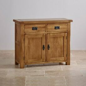 Rustic Solid Oak Sideboard, Coffee Table, Side Table and TV Cabinet