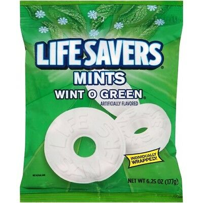 Lifesavers Mints Wint O Green Hard Candy Individually Wrapped](Lifesavers Mints)