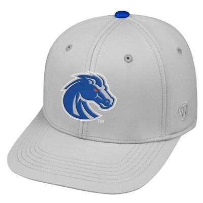 Boise State Broncos NCAA TOW Impact Gray Stretch Fitted Hat