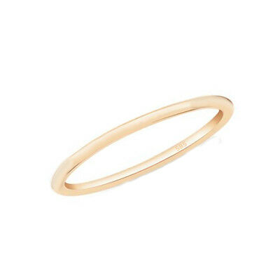 Gold 14 (Echt Gold 585 14 Kt Gelbgold schlichter schmaler dünner Vorsteck Ring glänzend)