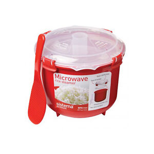 Sistema Microwave Rice Cooker Steamer Bowl On The Go Clip