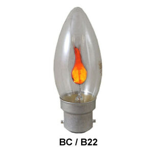 EVEREADY 3W Clear Flicker Flame Candle bulbs SES E14 Scr
