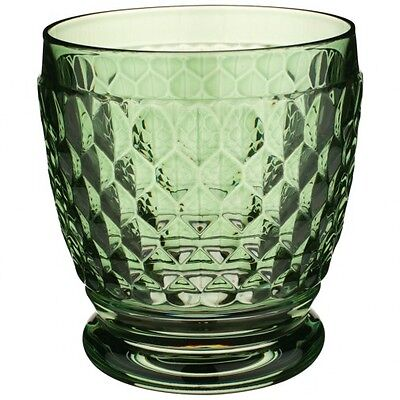 Villeroy & Boch Boston Colored Double Old-Fashioned Glass, Green - Set of 12