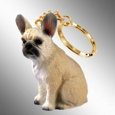 French Bulldog Fawn Dog Tiny One Resin Keychain Key Chain (Bulldog Fawn)