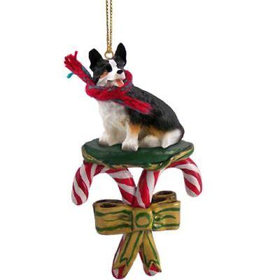 Welsh Corgi Cardigan Dog Candy Cane Christmas Tree ORNAMENT ()