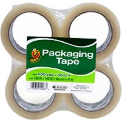 4 Pack Duck Clear Packagingshipping Tape 100 Yards Each Total Of 400yds