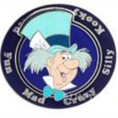 Mad Hatter Crazy (MAD HATTER- MAD CRAZY SILLY KOOKY WICKED FUN ALICE WONDERLAND DISNEY PIN)